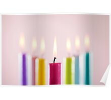 Rustic Candles II Poster
