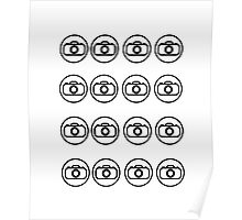 Camera icons Poster