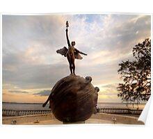 Riverside Memorial Angel Statue Poster