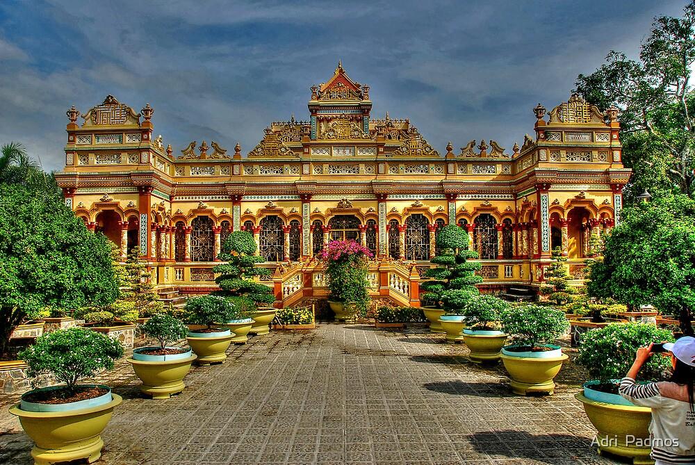 Vinh Trang Pagoda by Adri  Padmos