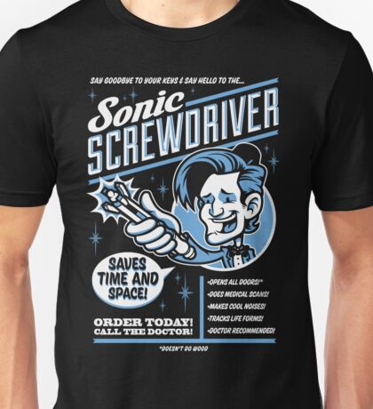 Sonic Screwdriver Ad Unisex T-Shirt