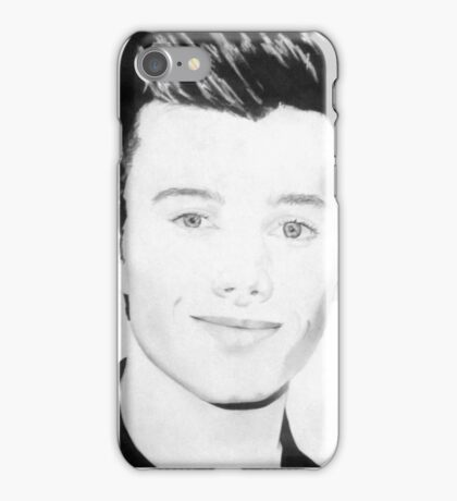Chris Colfer drawing iPhone Case/Skin