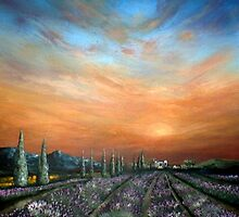 Lavender Field Sunset by Cherie Roe Dirksen