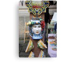 Ceramic Face Canvas Print