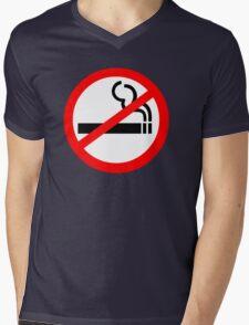 No Smoking Symbol Mens V-Neck T-Shirt