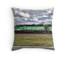 Moving Train Drive-By Shot Throw Pillow