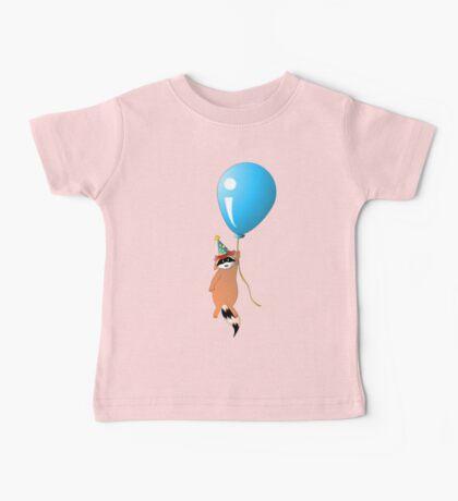 Clown Raccoon with Balloon Baby Tee