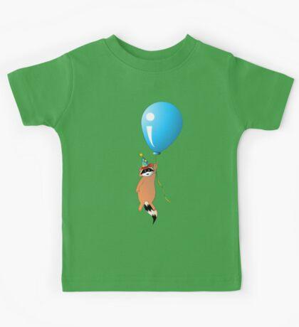 Clown Raccoon with Balloon Kids Tee