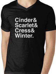 Cinder & Scarlet & Cress & Winter. (inverse) Mens V-Neck T-Shirt