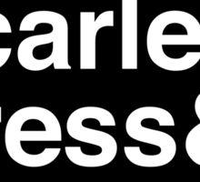 Cinder & Scarlet & Cress & Winter. (inverse) Sticker