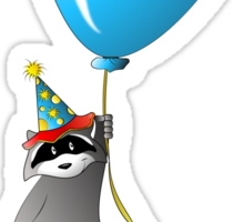 Clown Raccoon with Balloon Sticker