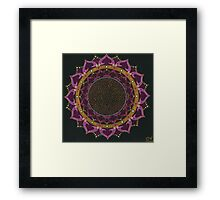 Black Cherry Mandala Framed Print