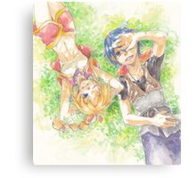 Chrono Cross: Serge and Kidd Canvas Print