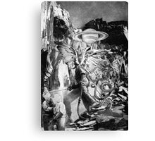 Screwing the Planet. Canvas Print