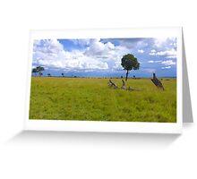 Masai Mara 4 Greeting Card