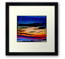 Bay of Tranquility - Rain Framed Print