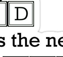 WASD is the new ASDF Sticker