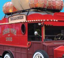 Steampunk Ballooner Wagon Sticker