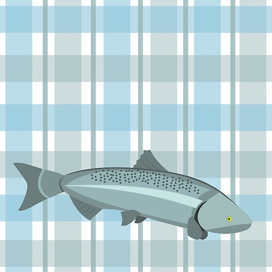 Gingham Salmon by Rumpleshark