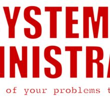Systems Administrator (Red) Sticker