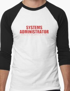 Systems Administrator (Red) Men's Baseball ¾ T-Shirt