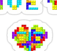 Tetris Love Sticker