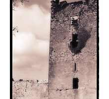 Old Castle Outline by gloriart