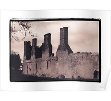 Irish Ruin on the Grounds of Modern Hotel Poster