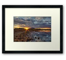 Elements of Sunset 1 Framed Print