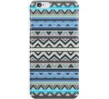 Mix #76, Double Size - Blue Aztec Pattern iPhone Case/Skin