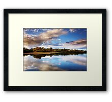 The Mere in Autumn  Framed Print