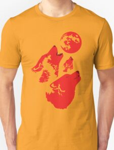 Three Wolves and a Blood Moon T-Shirt