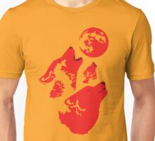 Three Wolves and a Blood Moon Unisex T-Shirt