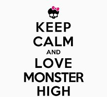 Keep Calm and Love Monster High (Light Colors) Womens Fitted T-Shirt