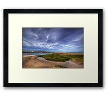 Sand Bar Beach  Framed Print