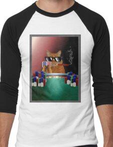 Cat Poker Men's Baseball ¾ T-Shirt