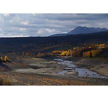 River at Mouth of Lake Photographic Print