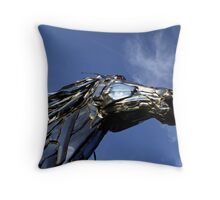 Steel Stallion Throw Pillow