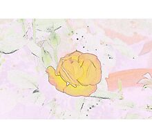 Watercolor of Flower Photographic Print