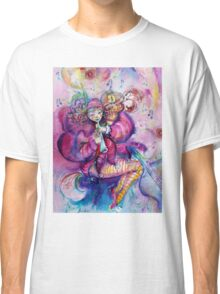 PINK MUSICAL CLOWN WITH OWL Classic T-Shirt