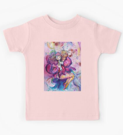 PINK MUSICAL CLOWN WITH OWL Kids Tee