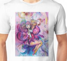 PINK MUSICAL CLOWN WITH OWL Unisex T-Shirt