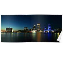 Jacksonville Skyline at Dusk Poster