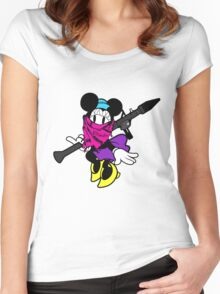 HELLZ MINNIE Women's Fitted Scoop T-Shirt