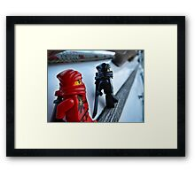 Sneaking into the sailboat Framed Print