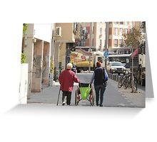 Grandma and her sist are Walking n rolling Greeting Card