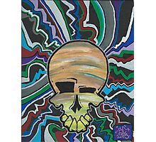 electric candy skull Photographic Print