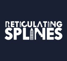 Reticulating Splines (Dark Shirt) by Jo Khoury