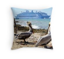 Meeting of Giants Throw Pillow