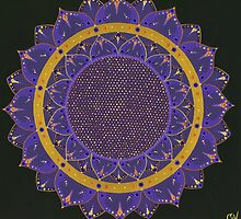 Indigo Mandala by Steven Coventry